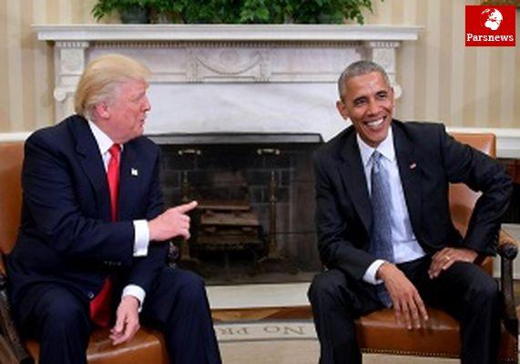 حمله توئیتری ترامپ به اوباما